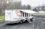 The world's first digital mammography on a rigid-body mobile unit.