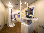 High ceilings and spacious imaging suites.